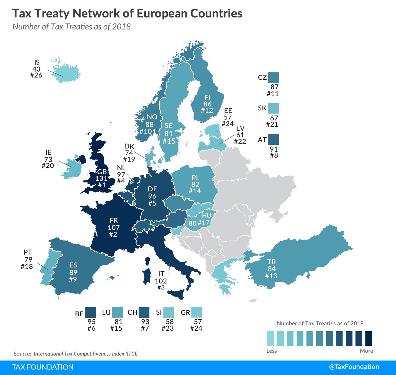 European tax treaty 2019 tax treaty network of european countries 2019